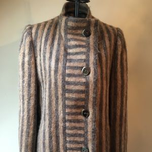 💥SOLD💥Pauline Trigere Mohair Striped Coat